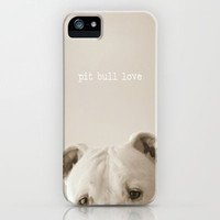 Pit bull love  iPhone Case by Laura Ruth