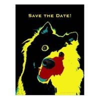 Save the Date 60th Birthday Happy Dog Announcement Postcard