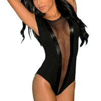 Hot Sale 2016 Black Mesh Sexy Bodysuit Lingerie Transparent Jumpsuit Women Bottoming Clothes Babydoll Teddies Erotic Sleepwear
