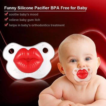 Funny Kissable Pacifier Silicone Pacifier BPA Free for Baby Infant Newborn