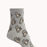 Cat Attack Crew Socks