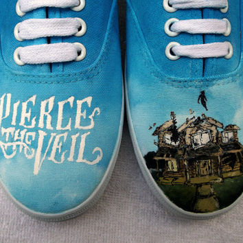 Pierce The Veil Shoes || Hand Painted