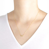 Gold-Plated Angel Wings Necklace
