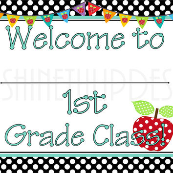 Printable 1st Grade Teacher Door & Wall Sign