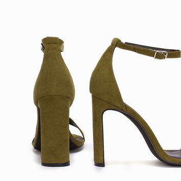 Thin Block Heel Sandal, NLY Shoes
