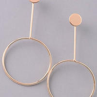 Stay in the Loop Gold Earrings