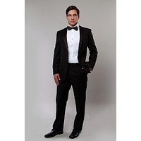 Men's Black Classic Notch Lapel Modern Fit Tuxedo