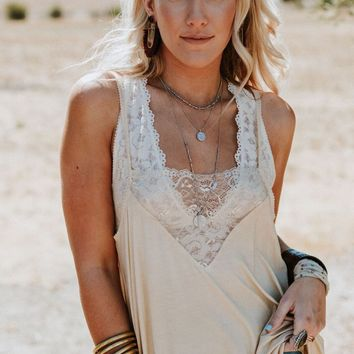 Sweet Talker Lace Cami - Honey