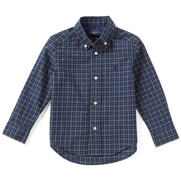Ralph Lauren Childrenswear Little Boys 2T-7 Tartan-Plaid Long-Sleeve Woven Shirt | Dillards