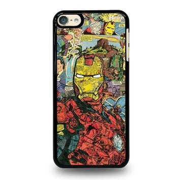 iron man comic collage ipod touch 6 case cover  number 1