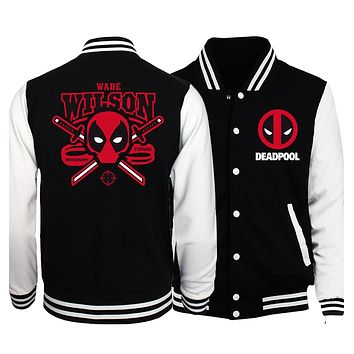 2018 Spring Hot Men Baseball Jacket Deadpool Men Coat Batman 2/ The Flash/ The Punisher Men Jackets Slim Fit brand-clothing