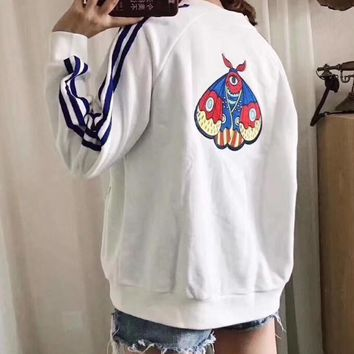 Day-First™ Adidas Women Fashion Zip Cardigan Jacket Coat Sweatshirt