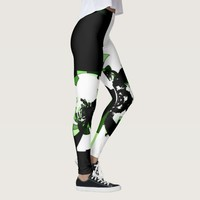 Green Machine Geometric Modern Pattern Leggings