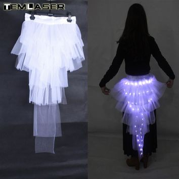 LED Tutu with Tail Skirt