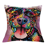 Cute Pitbull Bulldog Boston Terrier Mastiff Home Decor Pillows