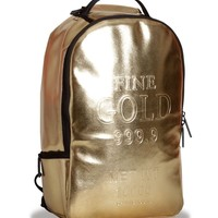 Sprayground Gold Brick Deluxe Backpack - 1 left at flymode.com