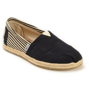 Toms University Rope Sole Classics Black Women's Shoes