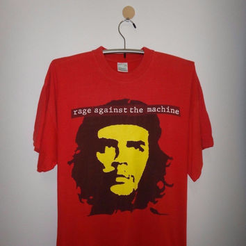 Vintage Rage Against The Machine T Shirt 1990S Punk Rock Red Hot Chili Peppers Shirt