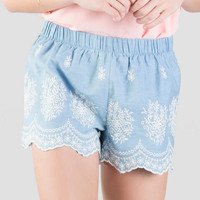 Cassia Embroidered Shorts
