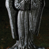 """Halloween Decor: 24"""" Tombstone-Gothic Lighted Angel"""