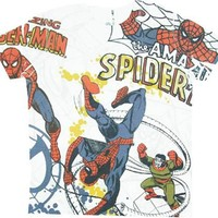 Spider-man Spidey Sublimation White T-shirt - Spider-Man - | TV Store Online