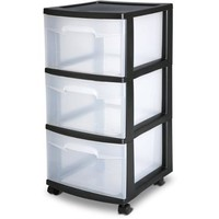 Sterilite 3 Drawer Cart- Black (Available in Case of 2 or Single Unit) - Walmart.com