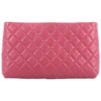 Chanel Square Timeless Clutch Quilted Lambskin Bag