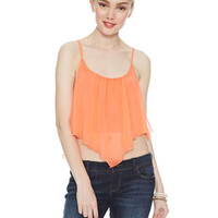 Lampshade Crop Top - Coral