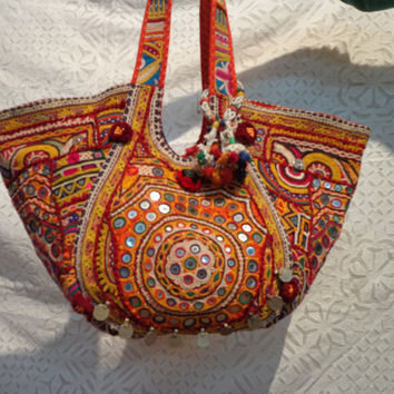 ethnic patchwork bags/tribal/ethnic/old/gypsy/antique/banjara bags and handbags