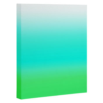 Natalie Baca Aquamarine Ombre Art Canvas