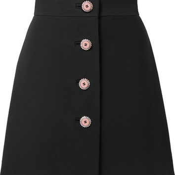 Miu Miu - Embellished cady mini skirt