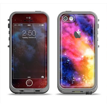 The Super Nova Neon Explosion Apple iPhone 5c LifeProof Fre Case Skin Set
