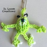 Rainbow Loom Charm Mike - Monsters Inc - Rainbow loom - Loom Charm - Loom Band - Bracelet - Necklace Charm - Rainbow Loom Mike charm - Mike