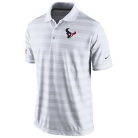 Mens Nike White Houston Texans Preseason Performance Polo