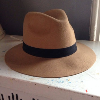 The Hatter Company Tan Fedora Hat