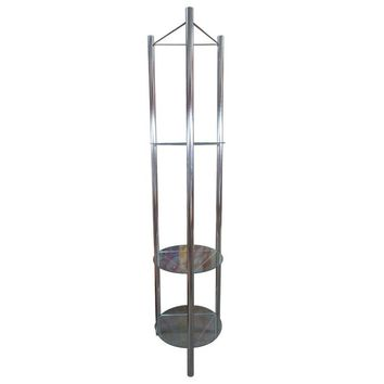 Pre-owned Mid-Century Chrome Etagere with Triangular Shelves