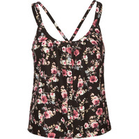 MIMI CHICA Button Front Multi Strap Womens Top 206761957 | Blouses & Shirts | Tillys.com