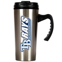 Tampa Bay Rays Stainless Steel Travel Mug (Silver)