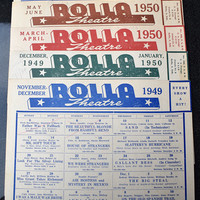 November 1949 thru June 1950 Rolla Movie Theatre Schedules Vintage