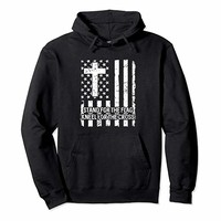Stand For The American Flag Kneel For The Cross Hoodie