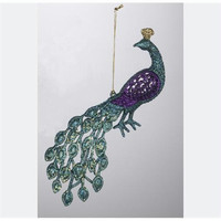 Christmas Ornament - Blue And Purple Peacock