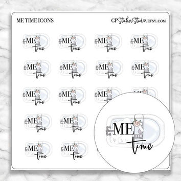 ME TIME Icon Planner Stickers for your Erin Condren, Happy Planner, Kikki K, Filofax, Traveler's Notebook and more!