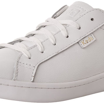 Keds Women's Ace Leather Fashion Sneaker White/White 9 B(M) US '