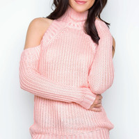 All Eyes On You Knit Top - Blush