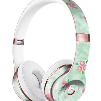 Shabby Chic Watercolor Holly Pattern V2 Full-Body Skin Kit for the Beats by Dre Solo 3 Wireless Headphones