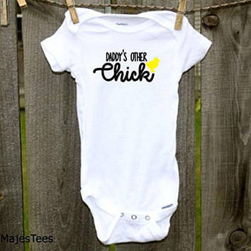 Daddy's Other Chick Onesuits®, Girls Easter shirt, Baby Chick, Easter Shirt, Easter Outfit, Toddler Shirt, Chicken Shirt, Daddy Shirt