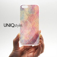 Transparent clear case for iPhone 5 / 5S / 5C Samsung Note 3, geometric pattern plastic hard case with tpu edge w/extra protection, L68