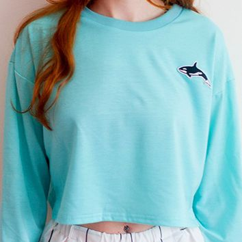 Orca Baby Sweater