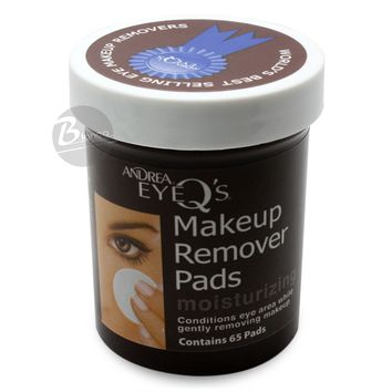 Andrea Eye Q's Moisturizing Eye Makeup Remover Pads, 65 Count