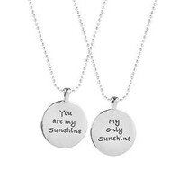 My Sunshine Best Friends 2 PC Chain Charm Necklace SET